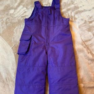 London Fog Infant 18 M Purple Snow Bibs Ski Pants